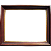 "Deep Walnut Picture Frame w/Gold Liner 11"" x 14"" (2 Available)"