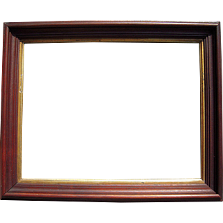 """Deep Walnut Picture Frame w/Gold Liner 11"""" x 14"""" (2 Available)"""