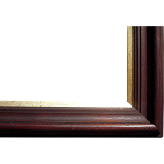 """Victorian Deep Walnut Picture Frame w/Gold Liner 10"""" x 14"""""""