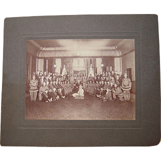 c1900 Photograph of Fraternal Order with Men in Indian Clothing