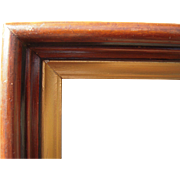 "Deep Victorian Walnut Picture Frame w/Gold Liner 8"" x 10"""