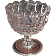 Mid 1800s 4 1/4 Inch Flint Glass Compote EAPG
