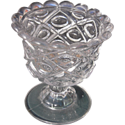 Mid 1800s 5 1/4 Inch Flint Glass Compote EAPG