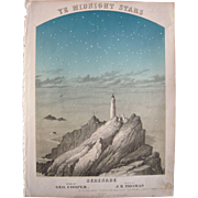 1868 Sheet Music Ye Midnight Stars