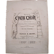 1853 Sheet Music Chow Chow