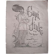 Mid 1800s Capt. Jinks Sheet Music