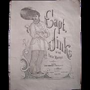 Mid 1800s Capt. Jinks Sheet Music
