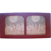 French Hand Colored Tissue Stereoview Diableries #14