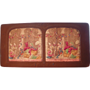 French Hand Colored Tissue Stereoview Diableries #22