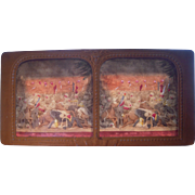 French Hand Colored Tissue Stereoview Diableries #23