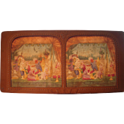 French Hand Colored Tissue Stereoview Diableries #25