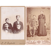 Lot 5 Cabinet Card Photos of Groups of People