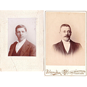 Lot 4 Cabinet Cards and 1 CDV of Men