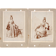 Lot 10 Cabinet Card Photos of Women