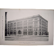 Lot of 12 1890s Photogravures Prominent Buildings in Boston, MA #1
