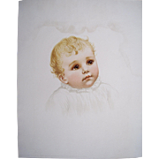 1888 Maud Humphrey Lithograph of Baby