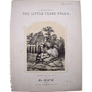 1864 Sheet Music The Little Tease Polka - Red Tag Sale Item