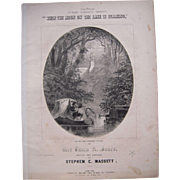 1853 Sheet Music When the Moon on the Lake is Beaming