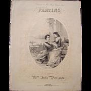 1855 Sheet Music Parting