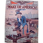 World War I Sheet Music Wake Up America