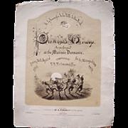 1864 Sheet Music Pukwudjies Galop (Civil War Related)