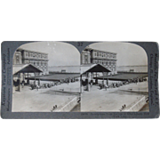Stereoview Immigrants at Ellis Island, New York City