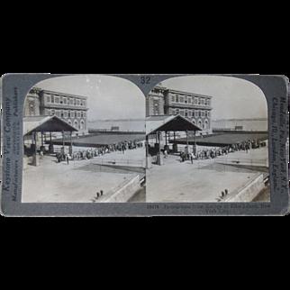 Stereoview Immigrants at Ellis Island, New York City