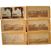 Lot of 6 World's Fair Stereoviews (Columbian or St.Louis Expo)