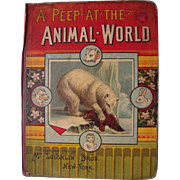1885 Children's Book A Peep At The Animal World By McLoughlin Bros.