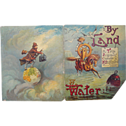 1889 Mcloughlin Children's Book By Land and Water