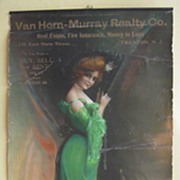 Advertising Yardlong Woman w/Green Dress