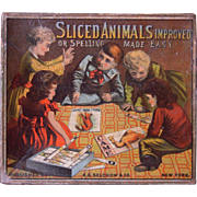 Victorian Era Sliced Animal Puzzles Game w/Box