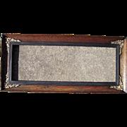 "c1900 Oak Picture Frame w/Brass Corner Ornamentation 7"" x 20"""
