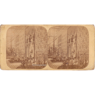 1850s London Crystal Palace Exposition Stereoview