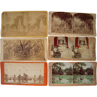 Lot 6 Stereoview of Southern US States
