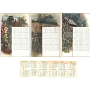 Lot of 1891 Calendars
