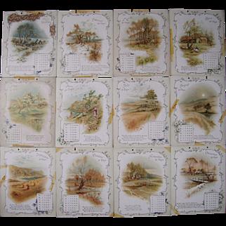 """1895 Calendar """"Time Flies"""""""