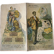 Hold to Lite Victorian Trade Card NO-TO-BAC (Anti Smoking Cure)