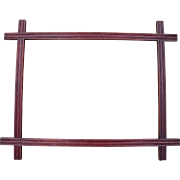 """Victorian Era Crossed Walnut Picture Frame 11"""" x 15"""" - Red Tag Sale Item"""