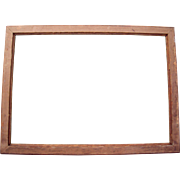 "Large Victorian Era Oak Picture Frame 21"" x 30"""