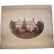 1880s Albumen Photo of Unidentified Home and Family