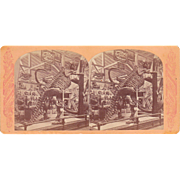 Stereoview Dinosaur Skeleton at 1876 Centennial Exposition