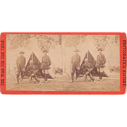 Civil War Stereoview of General Burnside and Staff