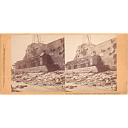 Civil War Stereoview of Ft. Sumpter