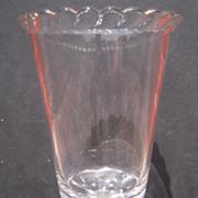 Gillinder Glass Lion Head Celery Holder Vase