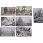 Lot 7 Postcards 1914 Fire in Salem, MA