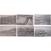 Lot 6 Postcards 1911 Flood at Austin, PA
