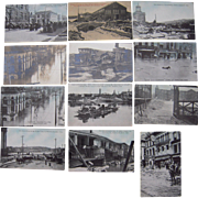 Lot 12  Postcards of 1913 Flood in Hamilton, OH