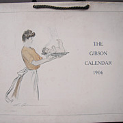Large 13 Page 1906 Gibson Girl Calendar