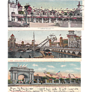 Lot 26 Coney Island Amusement Park Postcards
